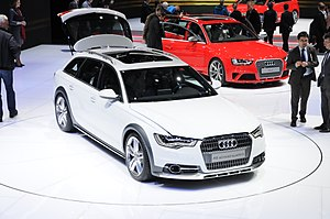 Geneva Motor Show - Two Audis presented at the 2012 Geneva Motor Show, the A6 allroad quattro and the RS4 Avant