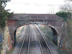 2012 at Mortimer station - over bridge.JPG