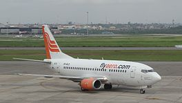 In Boeing 737-500 fan Aero Contractors