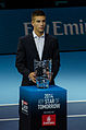 2014-11-12 2014 ATP World Tour Finals Borna Coric receiving trophy for ATP Star of tomorrow 2014 1 by Michael Frey.jpg