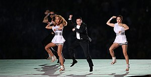 2014 Asian Games opening ceremony - Psy dancing Gangnam Style