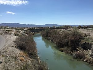 Lovelock, Nevada - The Humboldt River near Lovelock