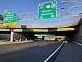 2018-07-18 19 06 47 View east along Interstate 280 (Essex Freeway) just west of Exit 13 (First Street, Branch Brook Park, Rutgers Health Science, NJIT) in Newark, Essex County, New Jersey.jpg