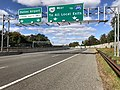 2018-10-24 12 35 44 View west along Virginia State Route 267 (Dulles Toll Road) at the easternmost exit for the Dulles Access Road in McLean, Fairfax County, Virginia.jpg