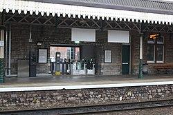 2018 at Weston-super-Mare station - new exit from platform 1.JPG