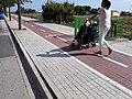 2020-09-11 Passejant amb un cotxet de nadó doble per l'Anell Verd Metropolità a Meliana 02.jpg