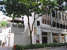 The building at 21 Tanjong Pagar Road which houses MOX Bar