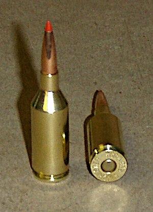 .223 Winchester Super Short Magnum - Image: 223 WSSM Hdy 75