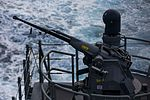 25 millimeter Typhoon gun being fired on HMAS Adelaide in June 2016.jpg
