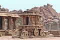 2 Stone Chariot Lord Vishnu Hindu temple Vitthala Vittala Hampi Karnataka India April 2014.jpg