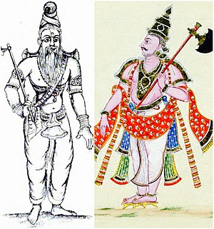 Parashurama - Parashurama with his axe (two representations)