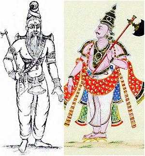 Parashurama - Parashurama with his axe (two representations)