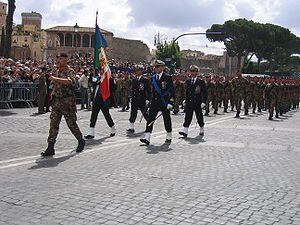 1st San Marco Regiment - The San Marco parading in Rome, on 2 June 2007