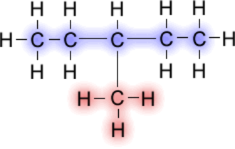 Alkyl - Image: 3 Methyl Pentane Highlighted