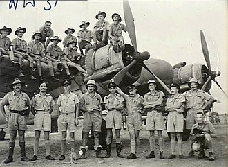 No. 31 Squadron RAAF - A group portrait of pilots and observers of No. 31 Squadron in January 1943
