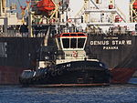 42 (tugboat, 2012) towing Genius Star through the Port of Antwerp pic3.JPG