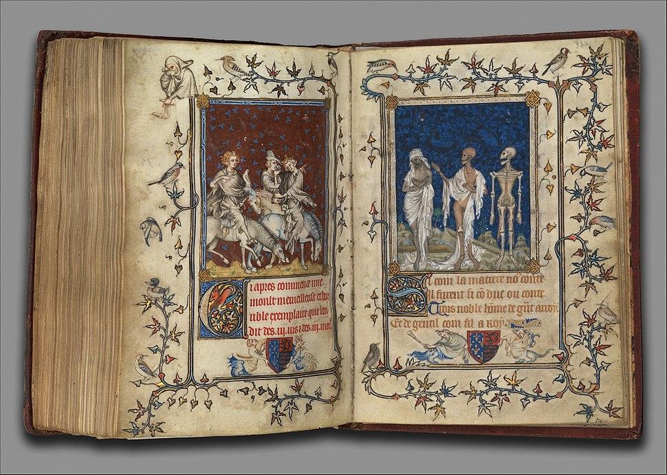 4 Jean Le Noir. Miniature from Psalter of Bonne of Luxemburg 1348-49 Metropolitan Museum, N-Y