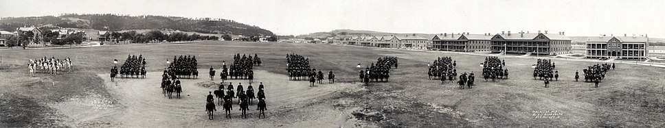 4th U.S. Cavalry at Fort Meade, South Dakota, 17 July 1909