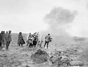 60 pounder firing traversed right IWM Q 008618