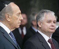 Lech Kaczyński i Szymon Peres