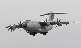 Airbus A400M Atlas - The second prototype A400M, Grizzly 2, at the 2010 Farnborough Airshow