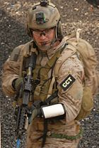 AF Combat Controller during MOUT exercise