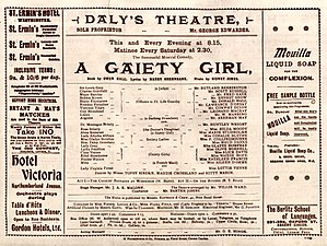 A Gaiety Girl - Theatre programme from 1894