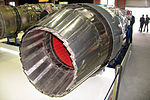 AL-31F M2 engine with thrust vector control at Engineering Technologies 2012 02.jpg