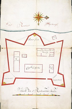 AMH-4578-NA Map of the fort at Tangerang