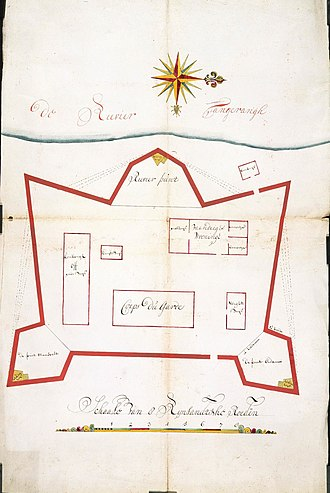 Tangerang - Map of Tangerang's fort dated 1709