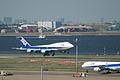ANA 747 Landing @RJTT HND (4651162367).jpg