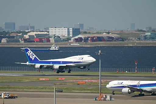 ANA 747 Landing @RJTT HND (4651162367)