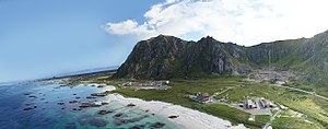 Andøya Space Center - View over Oksebåsen, the area Andøya Space Center is located. Photo takes from a multirotor.