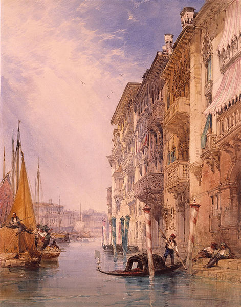 Fichier:A Gondola on the Grand Canal, Venice) by William Callow, RWS.jpg