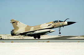 A Kuwaiti Mirage 2000C fighter aircraft during Operation Desert Storm.JPEG