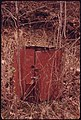 A Lock Is Still on the Door of This Structure Which Was Used to Hold Explosives for a Mine near Richlands, Virginia 04-1974 (3906404131).jpg