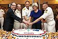 A ceremonial cake at a Big Top reception on the flight deck aboard Blue Ridge, in celebration of the exercise Talisman Sabre 2011 in Cairns, Queensland, Australia.jpg