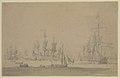 A council-of-war in the English fleet June? 1673 RMG PW6876.jpg