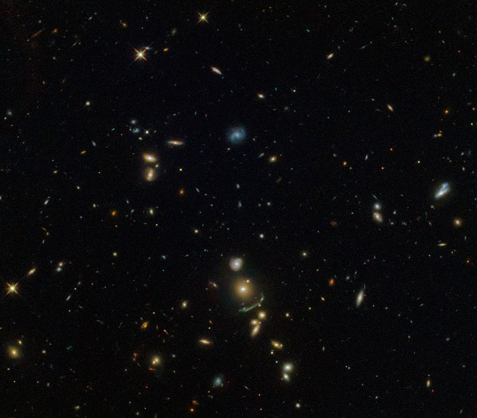 A green cosmic arc SDSS J1156+1911