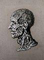 A human head containing jostling human figures. Crayon drawi Wellcome V0009528.jpg