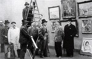 Musée des Beaux-Arts de Rouen - Members of the Rouen School, Salon des Artistes Rouennais, musée des Beaux-Arts de Rouen, Robert Antoine Pinchon (centre), 1934
