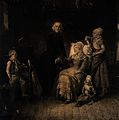 A sick mother has her pulse taken by a priest while her chil Wellcome V0015251.jpg