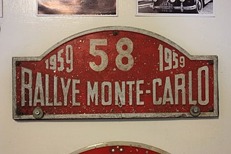 Monte Carlo Rally - A staging post from the 1959 Monte Carlo Rally