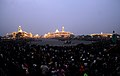 A view of the illuminated Rashtrapati Bhawan, South and North Block of the Central Secretariat atop and Parliament House during the Beating the Retreat Ceremony, in New Delhi on January 29, 2011.jpg