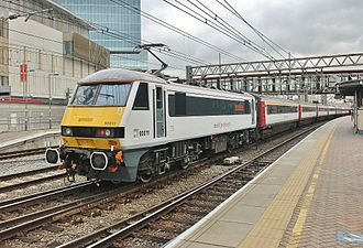 Greater Anglia (train operating company) - Image: Abellio Greater Anglia Intercity Class 90 Stratford