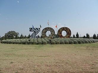Abilene Zoological Gardens - Abilene zoo large entrance  sign