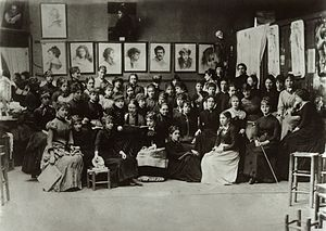 Académie Julian - Image: Academie Julian, Paris, group of art students