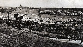Battle of Solferino - Photo of the Piedmontese camp made one day before the battle at Solferino