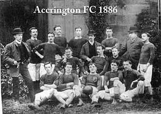 Accrington F.C. - The 1886 Accrington squad.
