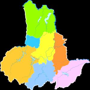 Lu'an - Image: Administrative Division Lu'an